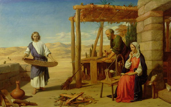John Rogers Herbert, Our Savior Subject to His Parents at Nazareth 1847