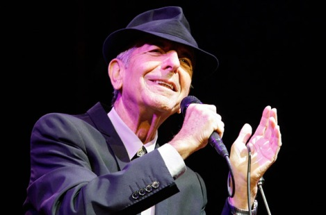 INDIO, CA - APRIL 17: Musician Leonard Cohen performs during day one of the Coachella Valley Music & Arts Festival 2009 held at the Empire Polo Club on April 17, 2009 in Indio, California. (Photo by Paul Butterfield/Getty Images) *** Local Caption *** Leonard Cohen